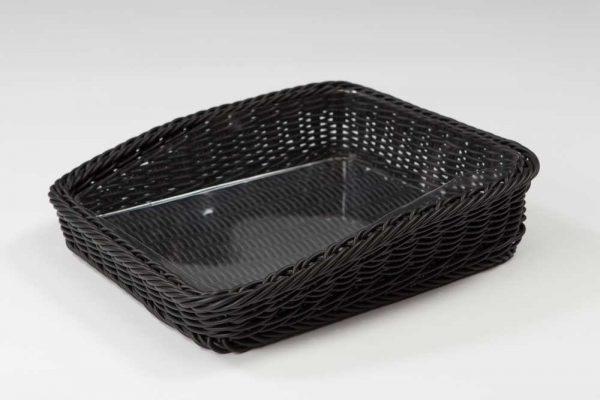 Cesto de plástico negra